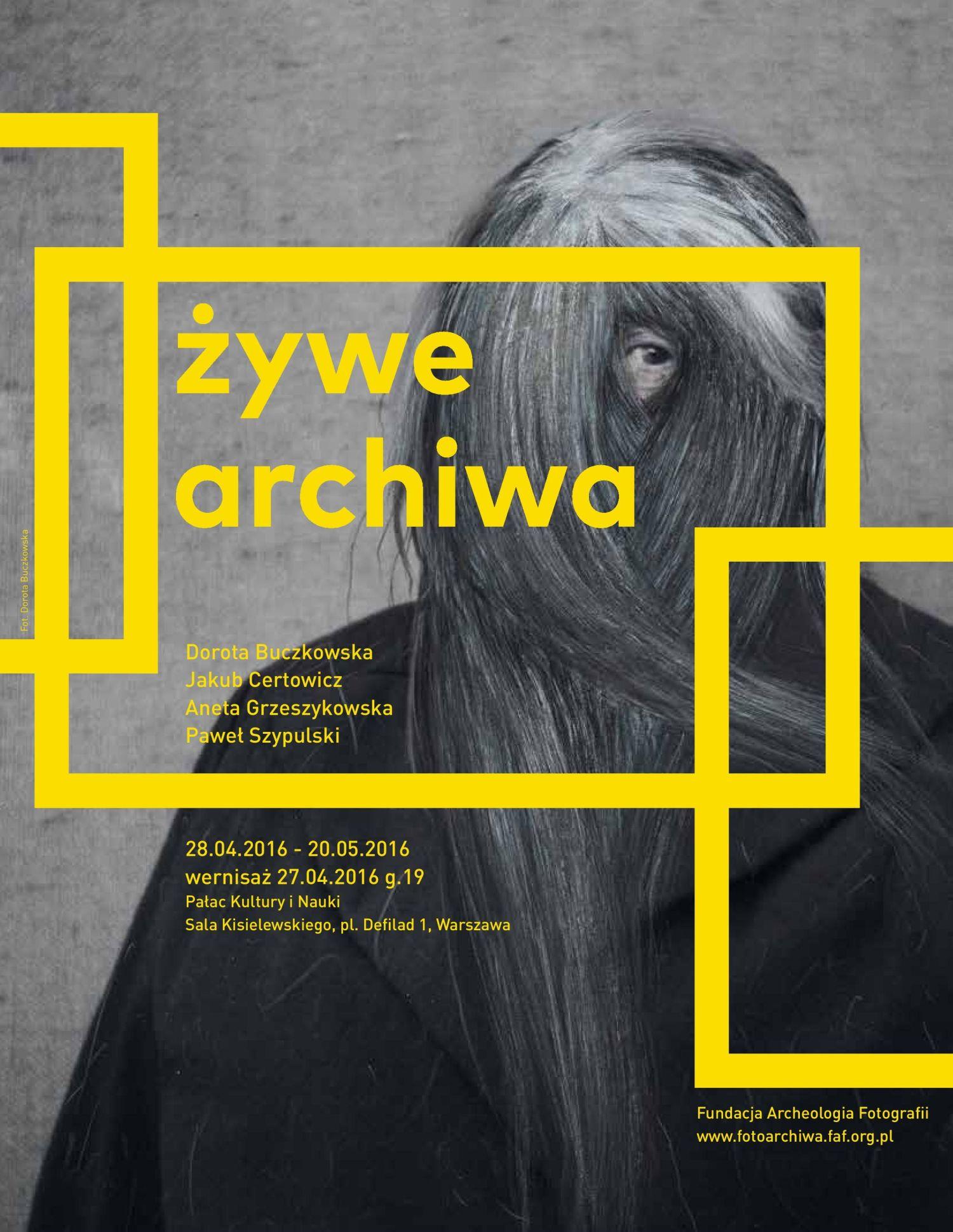 """""""Żywe archiwa"""", plakat (źródło: materiały prasowe organizatora)"""