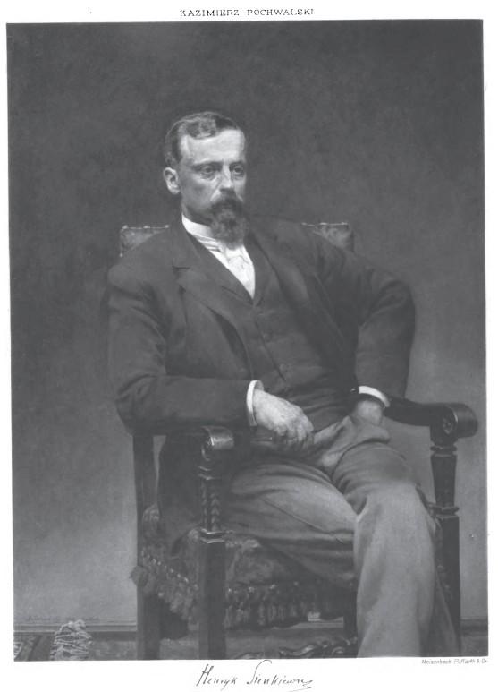 Henryk Sienkiewicz, obraz autorstwa Kazimierza Pochwalskiego, 1898 (źródło: Wikimedia Commons)