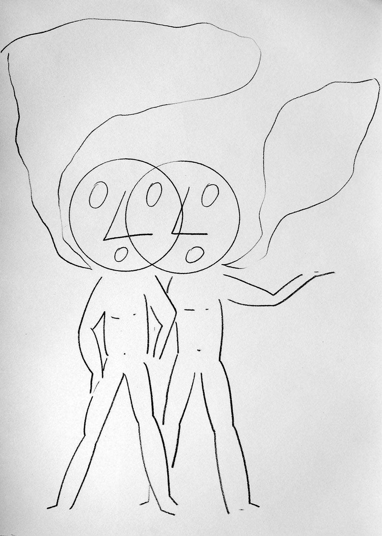 """Honza Zamojski, """"Ściany, scena, duch i grupa ręka, noga, głowa trupa"""" (źródło: materiały prasowe organizatora)"""