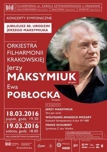 """""""Jubileusz 80. urodzin Jerzego Maksymiuka"""" – plakat (źródło: materiały prasowe organizatora)"""