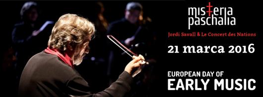 """Misteria Paschalia, """"Jordi Savall i orkiestra Le Concert des Nations """" – plakat (źródło: materiały prasowe organizatora)"""