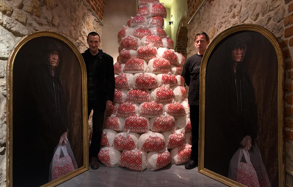 """Wystawa """"Ukraina. Czekając na bohatera. Kostyrko, Rawski"""", Międzynarodowe Centrum Kultury w Krakowie (źródło: materiały prasowe organizatora)"""
