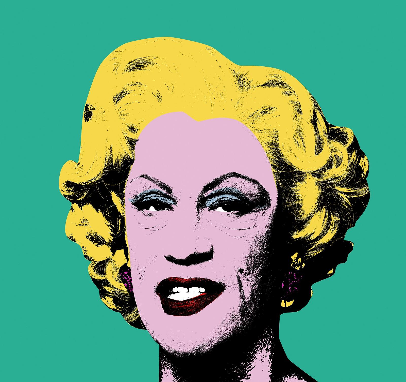 """""""Andy Warhol / Green Marilyn (1962)"""", Sandro Miller, zdjęcie (źródło: materiały prasowe organizatora)"""