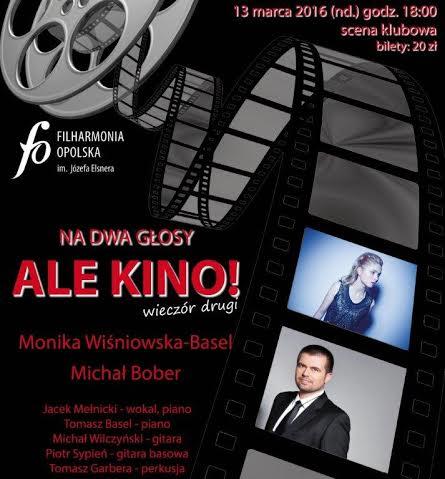 """""""Na dwa głosy – Ale Kino""""− plakat (źródło: materiały prasowe organizatora)"""