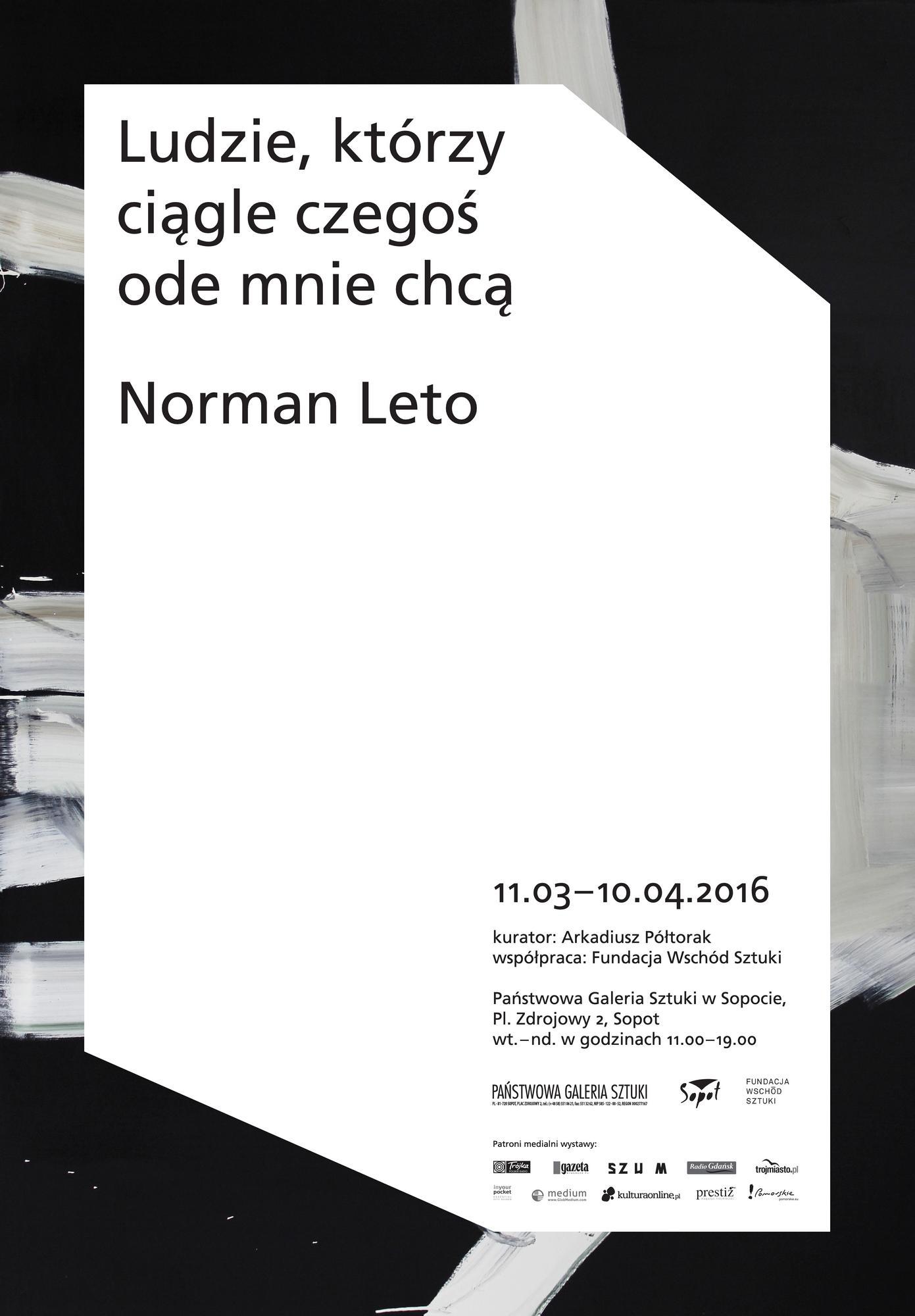 """Norman Leto, """"Ludzie, którzy ciągle czegoś ode mnie chcą"""" – plakat (źródło: materiały prasowe)"""