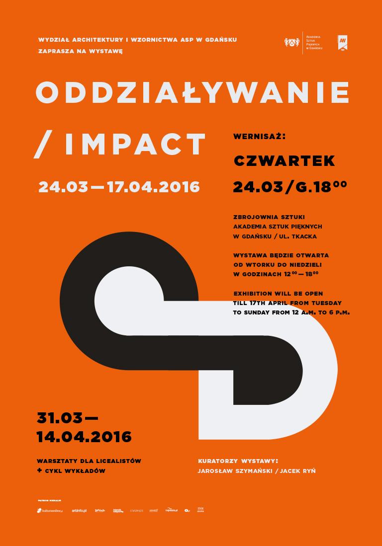 """""""Oddziaływanie/Impact"""" – plakat (źródło: materiały prasowe)"""
