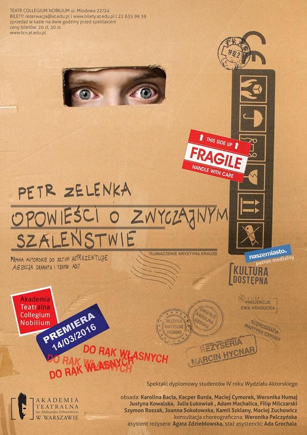 """""""Opowieści o zwyczajnym szaleństwie"""" – plakat (źródło: materiały prasowe)"""