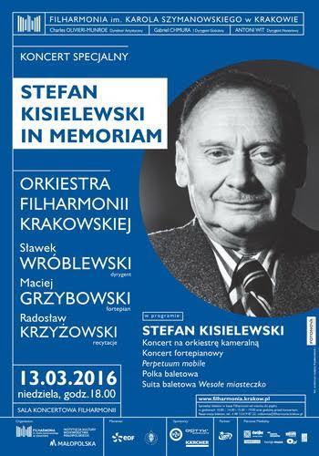 """""""Stefan Kisielewski in memoriam"""" – plakat (źródło: materiały prasowe organizatora)"""