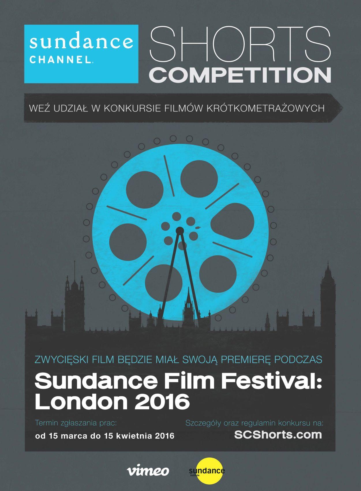 Konkurs Filmów Krótkometrażowych Sundance Channel 2016, plakat (źródło: materiały prasowe organizatora)