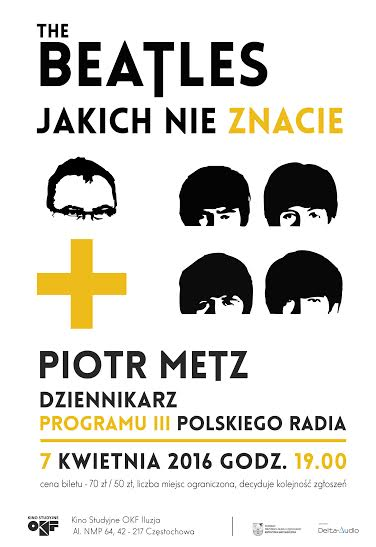 """""""The Beatles, jakich nie znacie"""" – plakat (źródło: materiały prasowe organizatora)"""