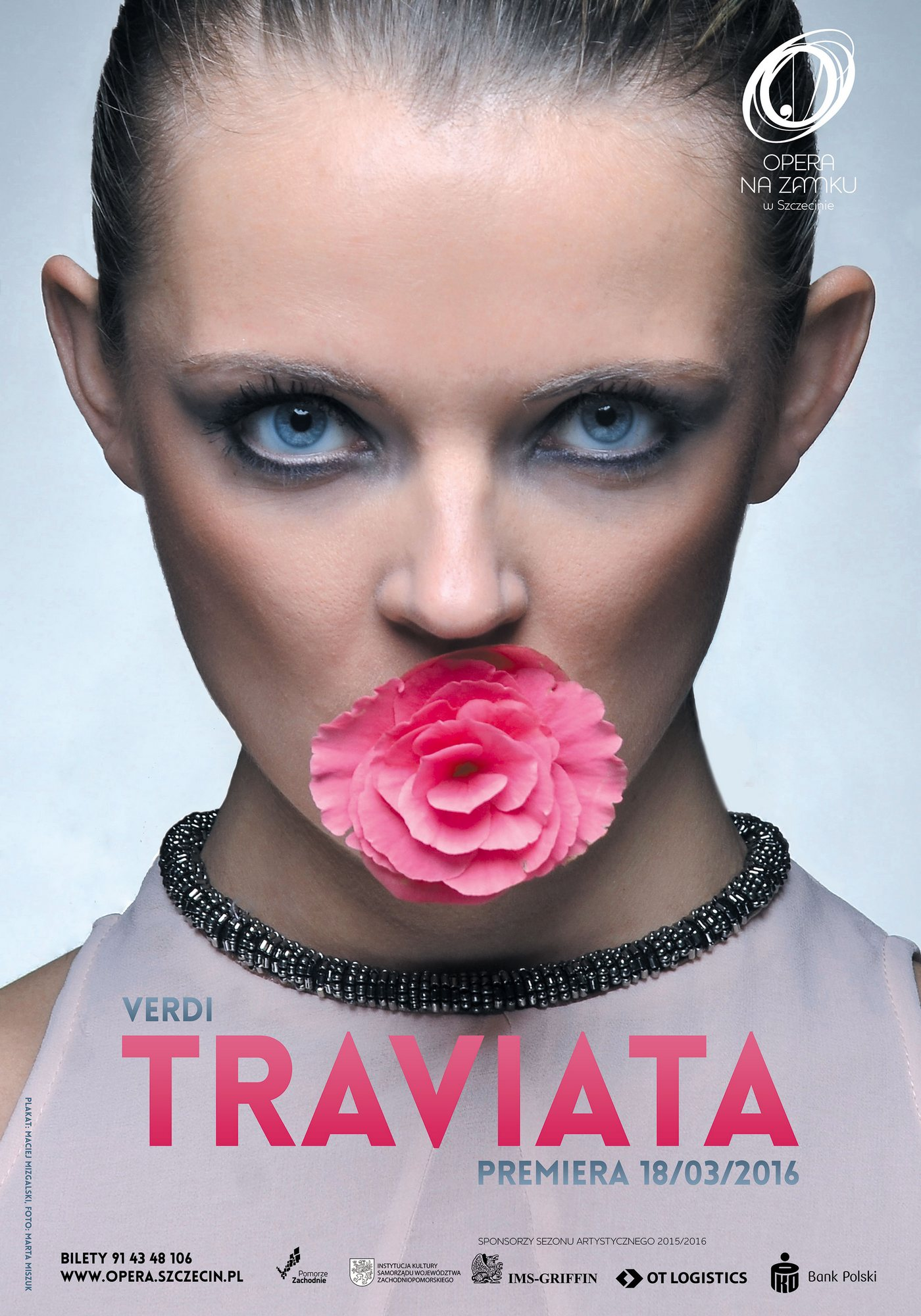 """Giuseppe Verdi, """"Traviata"""", reż. Michał Znaniecki – plakat (źródło: materiały prasowe)"""