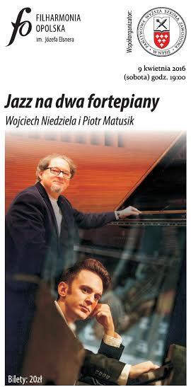 """""""Koncert na dwa fortepiany"""" – plakat (źródło: materiały prasowe organizatora)"""