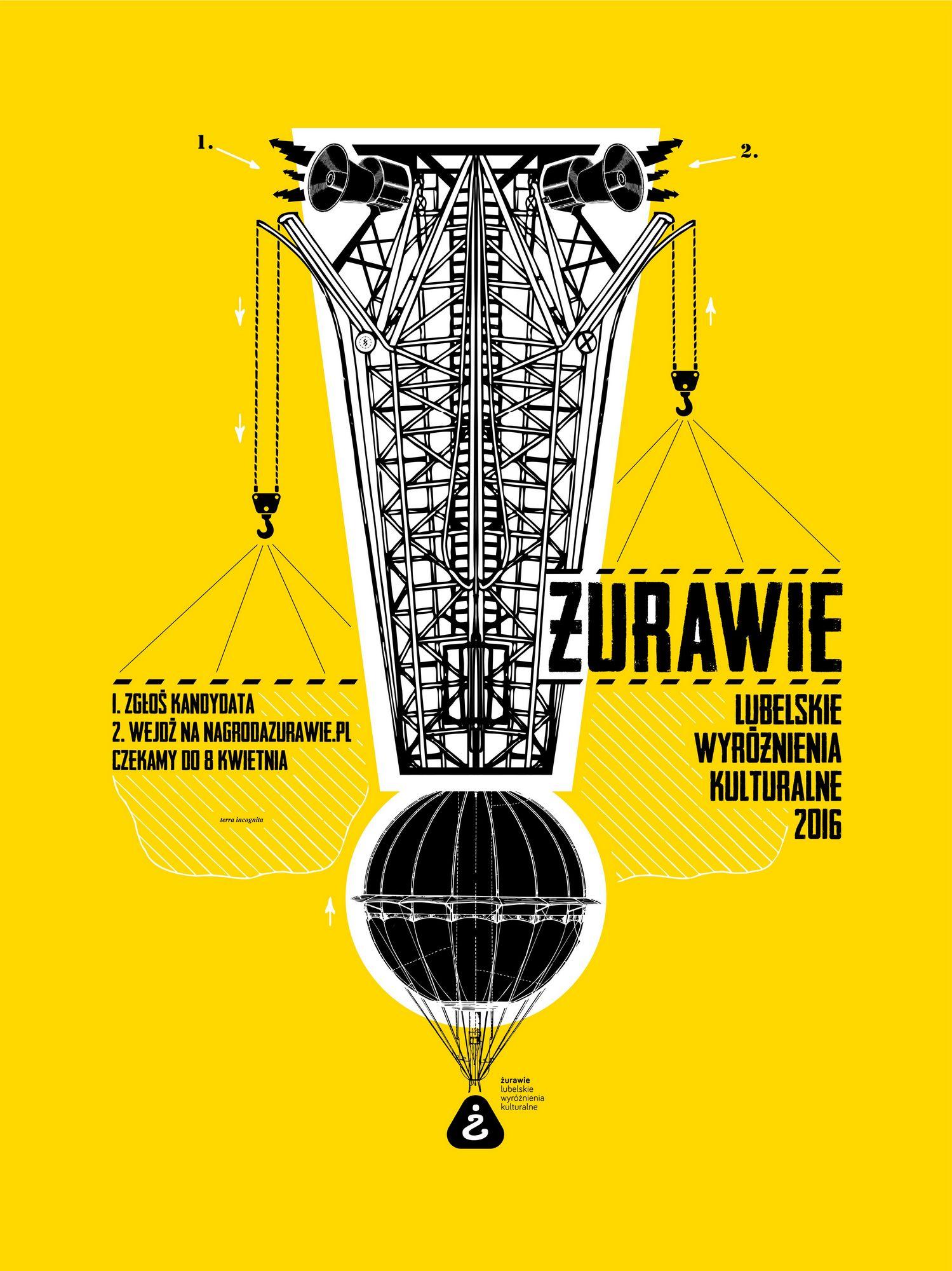 Żurawie – Lubelskie Wyróżnienia Kulturalne 2016 – plakat (źródło: materiały prasowe)