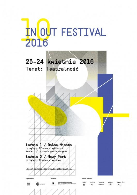 """""""10. IN OUT Festival"""" – plakat (źródło: materiały prasowe organizatora)"""
