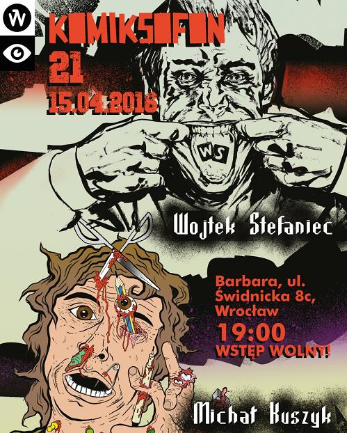 """""""21. Komiksofon"""", plakat (źródło: materiały prasowe organizatora)"""
