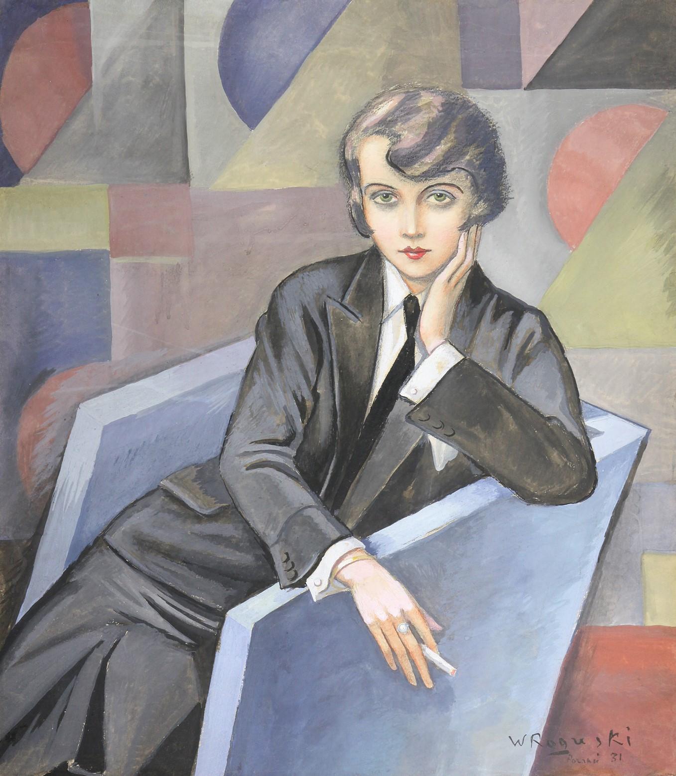 """Władysław Roguski, """"Kobieta w fotelu"""" (źródło: materiały prasowe organizatora)"""
