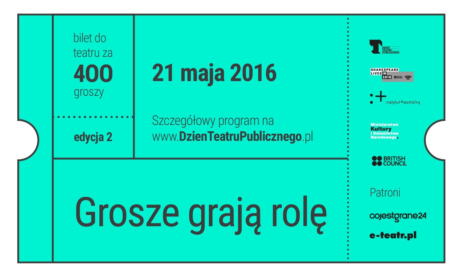 """""""Grosze grają role"""" – plakat (źródło: materiały prasowe organizatora)"""