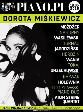 """Dorota Miśkiewicz, """"Piano.pl"""" – plakat (źródło: materiały prasowe organizatora)"""