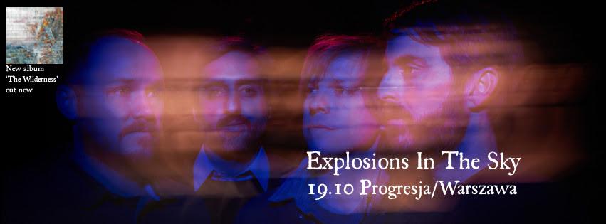 """""""Explosions In The Sky w Warszawie"""" – plakat (źródło: materiały prasowe organizatora)"""