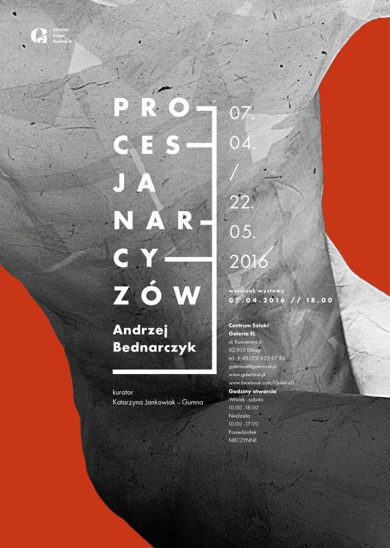 """Andrzej Bednarczyk, """"Procesja Narcyzów"""" – plakat (źródło: materiały prasowe organizatora)"""