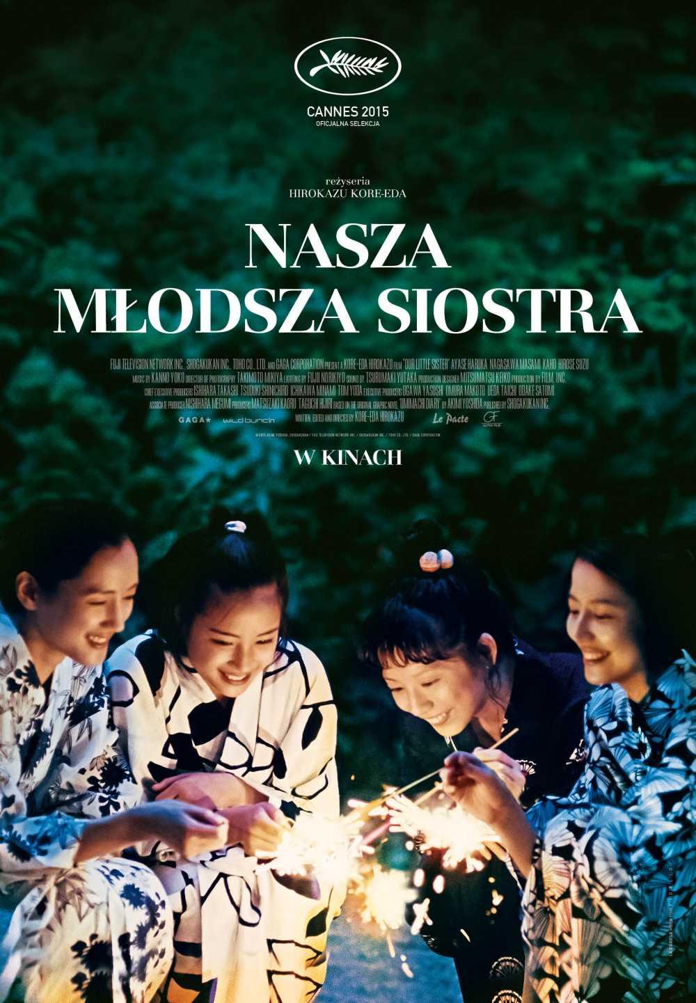 """""""Nasza młodsza siostra"""", reż. Hirokazu Kore-eda – plakat (źródło: materiały prasowe organizatora)"""