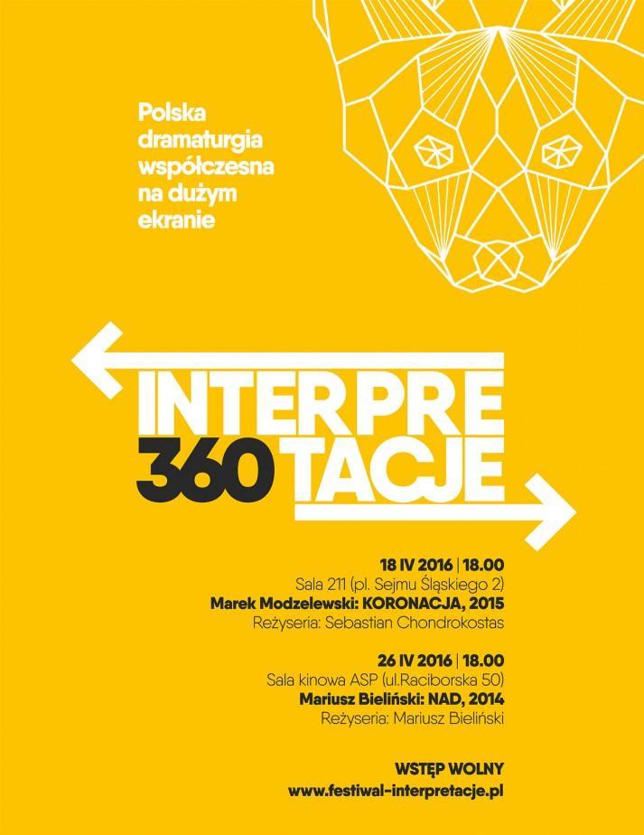 Interpretacje 360, plakat (źródło: materiały prasowe organizatora)