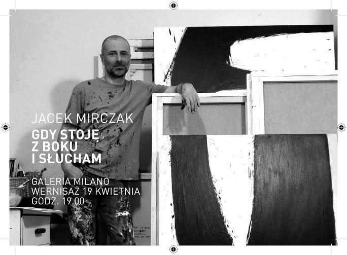 """""""Gdy stoję z boku i słucham"""", Jakub Mirczak, plakat (źródło: materiały prasowe organizatora)"""