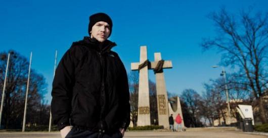 Jan Komasa na placu Mickiewicza w Poznaniu, fot. Agata Schreyner (źródło: materiały prasowe organizatora)