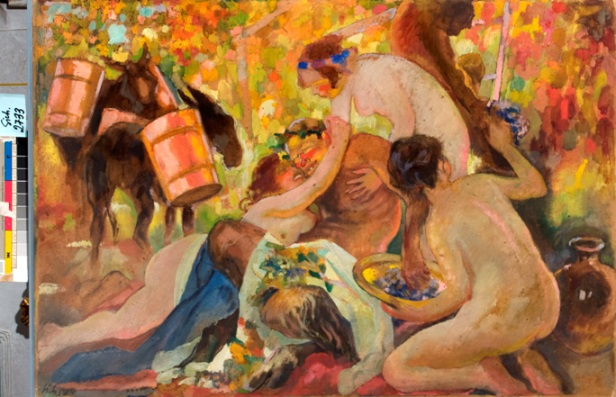 """Kazimierz Sichulski, """"Bachanalia"""", 1924, własność Lwowskiej Narodowej Galerii Sztuki im. B. G. Woźnickiego (źródło: materiały prasowe organizatora)"""