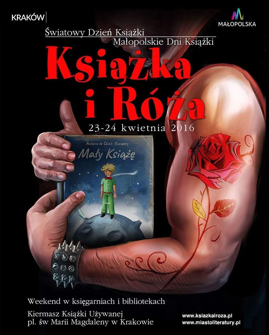 """Małopolskie Dni Książki """"Książka i Róża"""" – plakat (źródło: materiały prasowe)"""