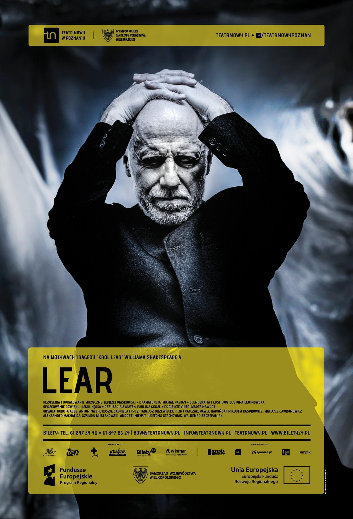 """""""Lear"""", reż. Jędrzej Piaskowski, plakat (źródło: materiały prasowe)"""