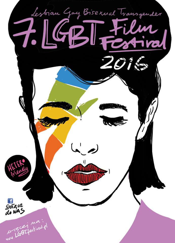 """""""LGBT Film Festiwal"""", plakat (źródło: materiały prasowe organizatora)"""