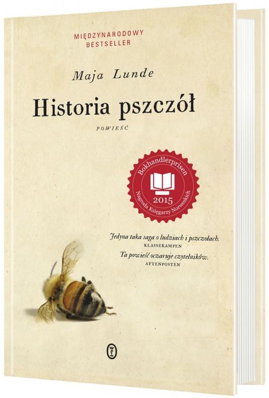 """Maja Lunde, """"Historia pszczół"""" – okładka (źródło: materiały prasowe)"""