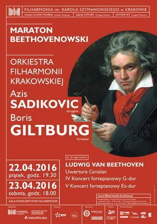 """Maraton Beethovenowski "" – plakat (źródło: materiały prasowe organizatora)"
