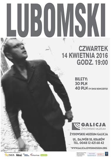 Mariusz Lubomski – plakat (źródło: materiały prasowe organizatora)
