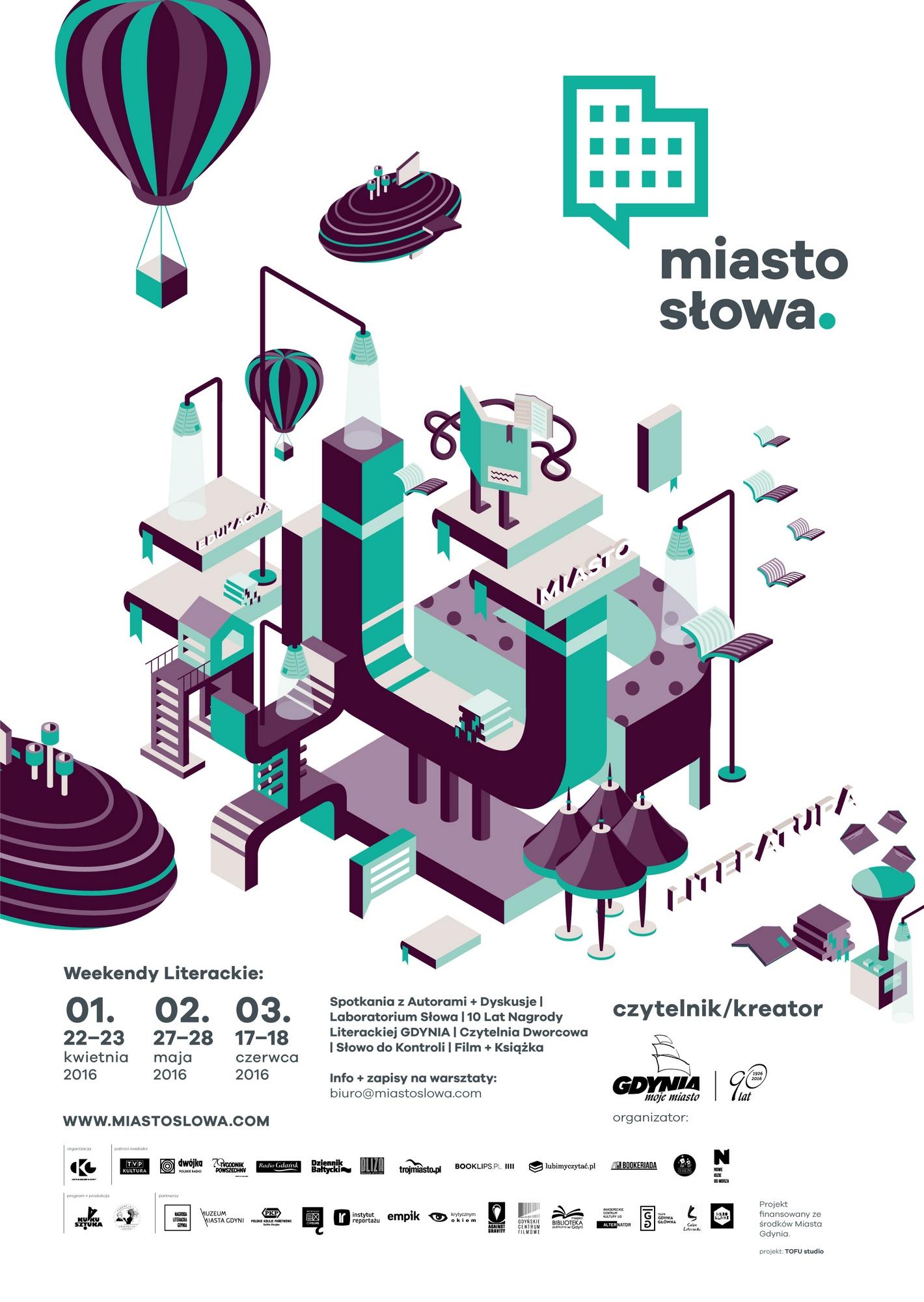 Festiwal Miasto Słowa – Czytelnik/Kreator – plakat (źródło: materiały prasowe)