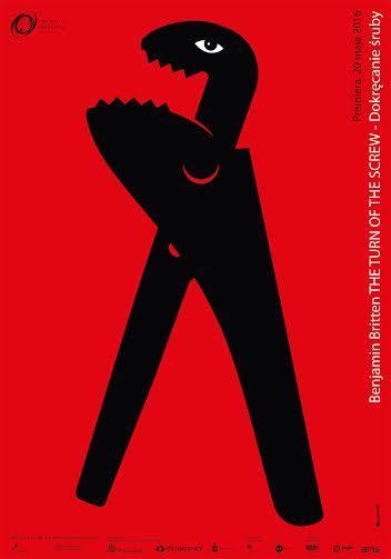 """Benjamin Britten, """"The Turn of the Screw (Dokręcanie śruby)"""" – plakat (źródło: materiały prasowe organizatora)"""