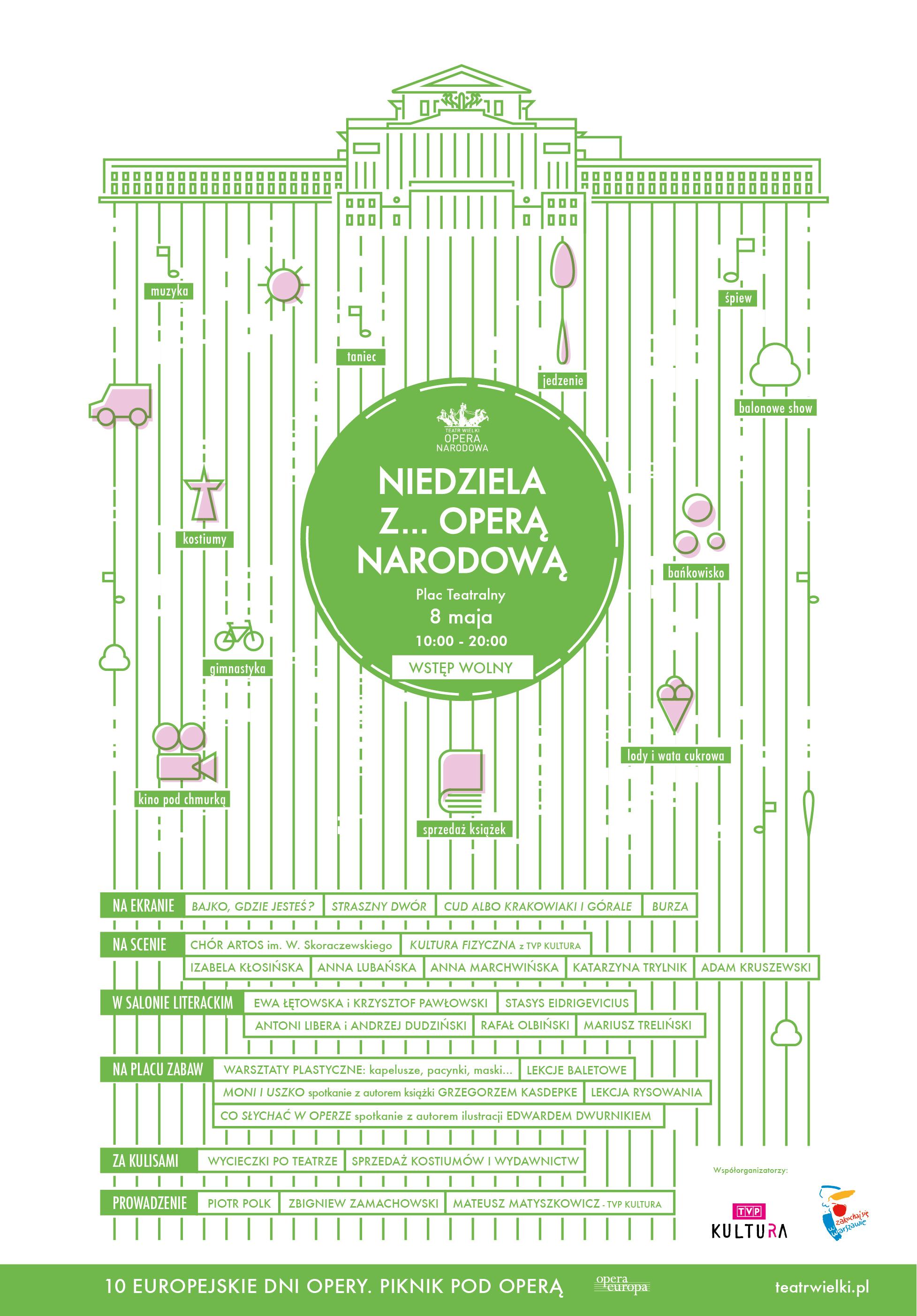"""""""Niedziela z ... Operą Narodową"""" – plakat (źródło: materiały prasowe organizatora)"""