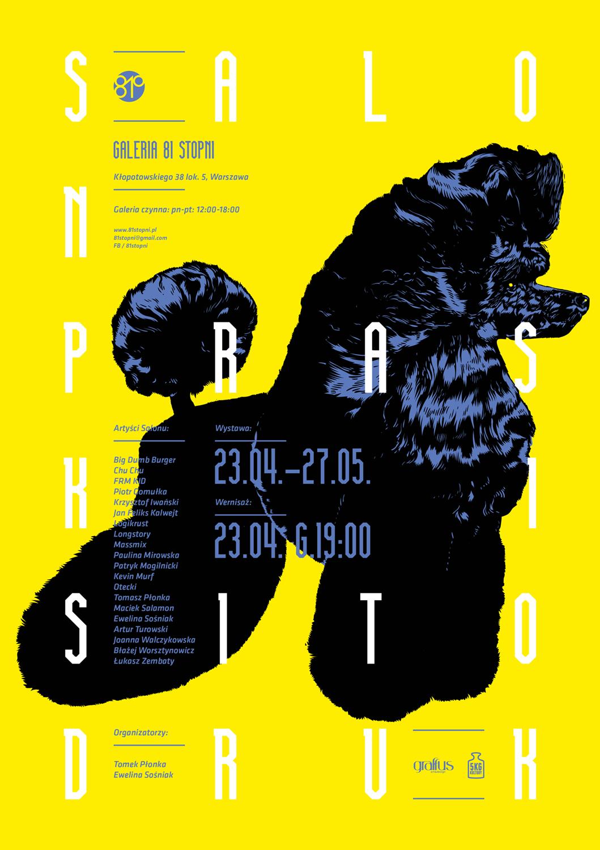 """Salon Praski – Sitodruk"", plakat (źródło: materiały prasowe organizatora)"
