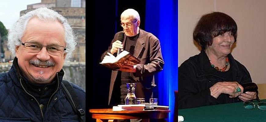 Wacław Oszajca (fot. Małgorzata Wróblewska); Bohdan Zadura (fot. Jarosław Wach); Hanna Krall (fot. Marek Obara) (źródło: materiały prasowe)