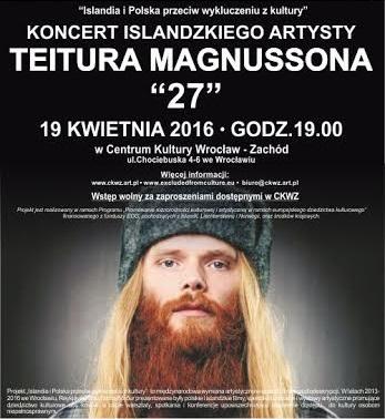 """""""Koncert Teitura Magnussona"""" – plakat (źródło: materiały prasowe organizatora)"""