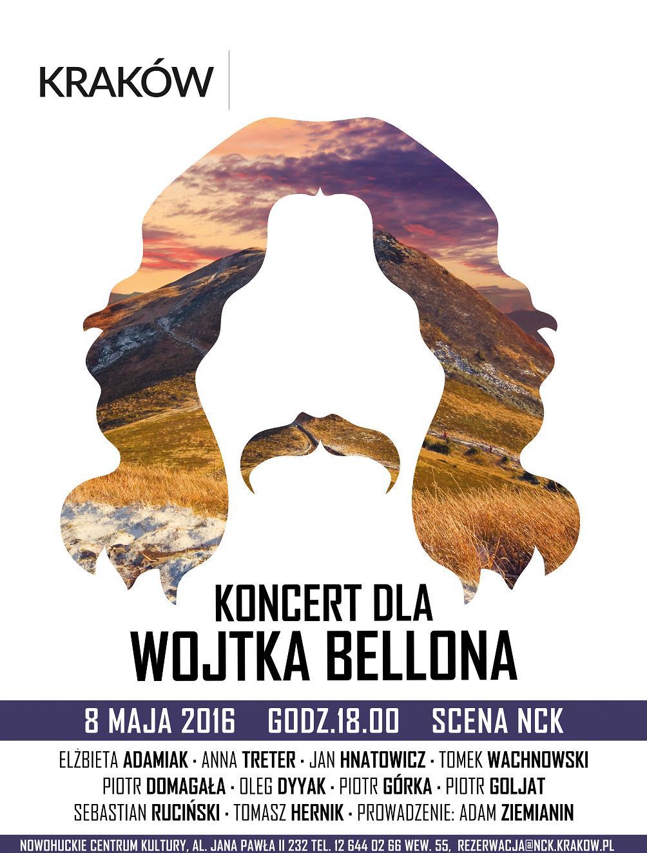 Koncert dla Wojtka Bellona, plakat (źródło: materiały prasowe organizatora)