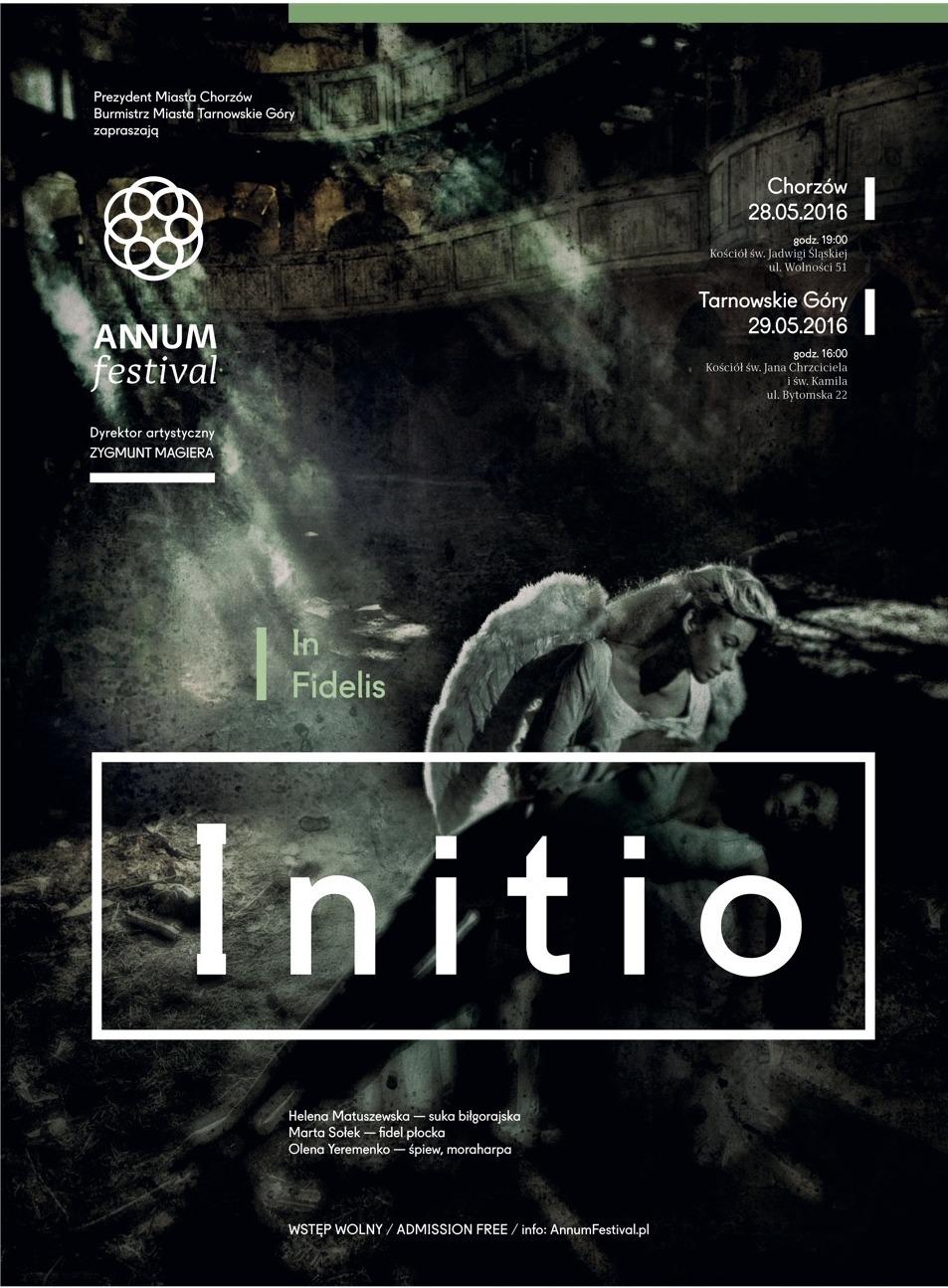 """Initio. ANNUM Festival"" – plakat (źródło: materiały prasowe organizatora)"