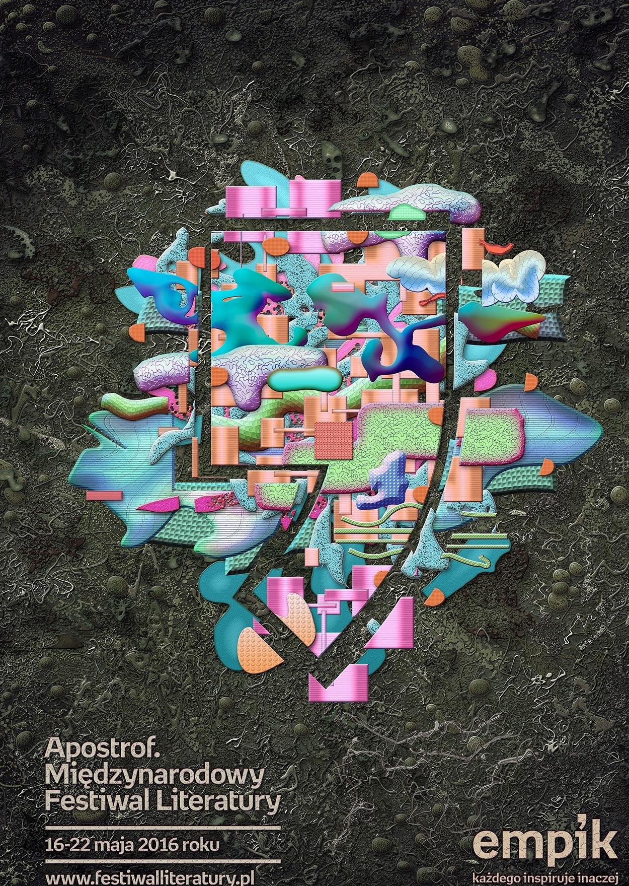 """""""Apostrof. Międzynarodowy Festiwal Literatury"""" – plakat (źródło: materiały prasowe organizatora)"""