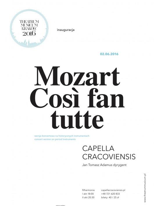 """Così fan tutte"" – plakat (źródło: materiały prasowe organizatora)"
