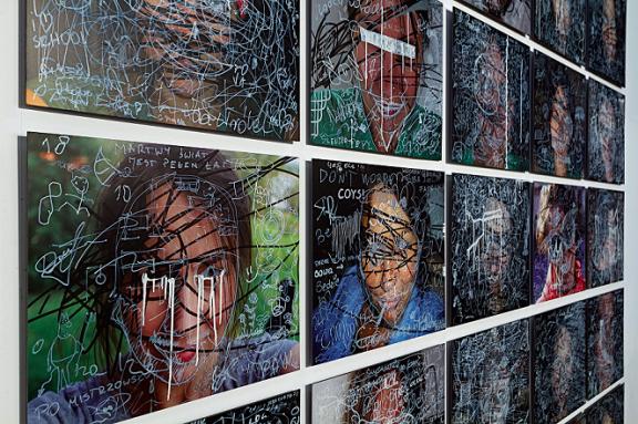 """Elżbieta Jabłońska, """" Zamazane rysunki"""", 2009–2012, wydruk (źródło: materiały prasowe organizatora)"""
