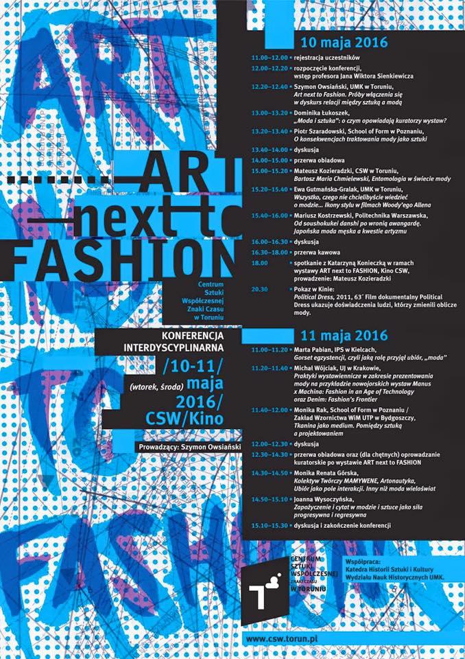 Interdyscyplinarna konferencja ART NEXT TO FASHION (źródło: materiały prasowe organizatora)