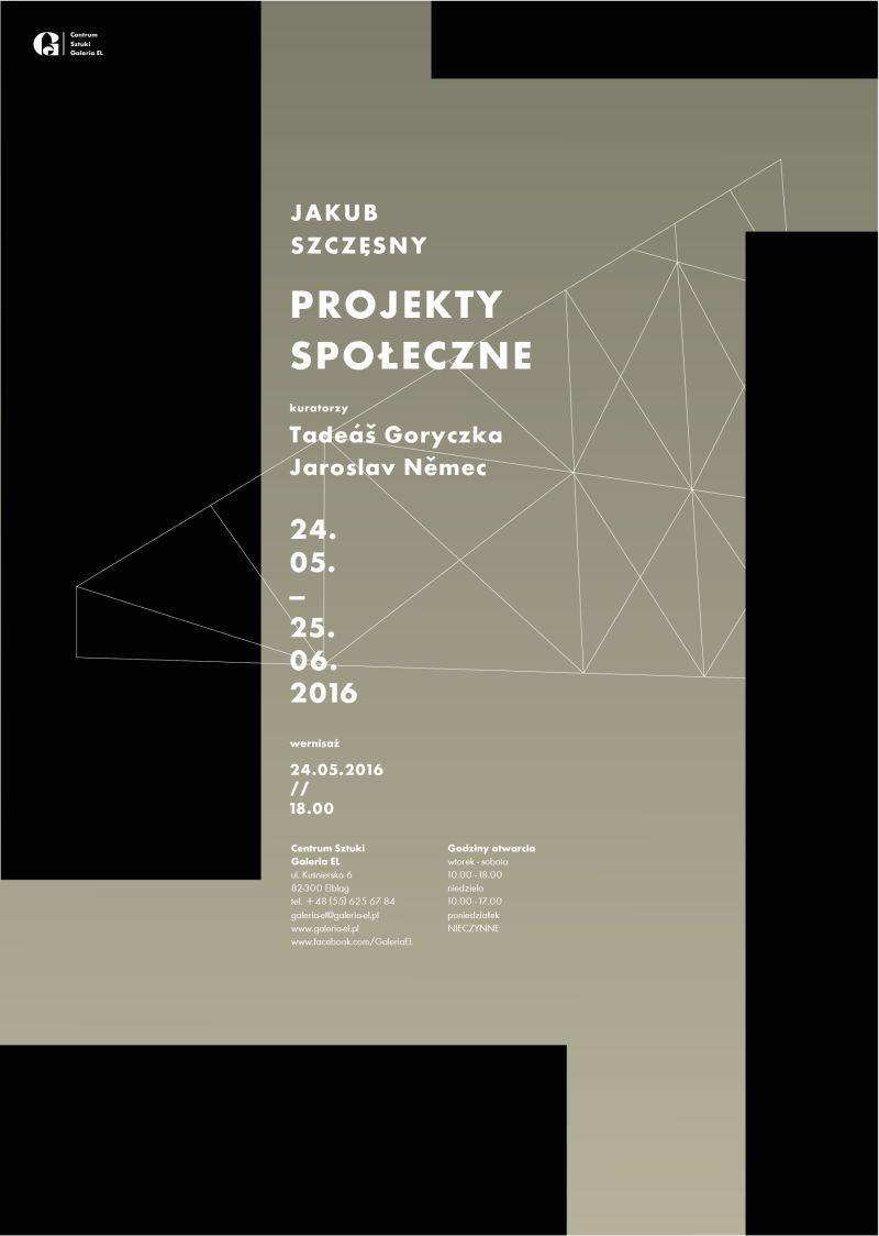 """Jakub Szczęsny, """"Projekty społeczne"""" – plakat (źródło: materiały prasowe organizatora)"""