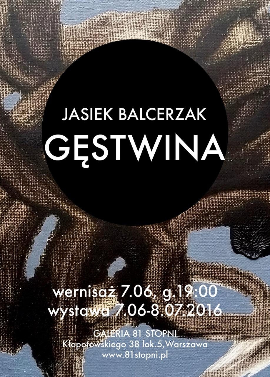 """Jasiek Balcerzak, """"Gęstwina"""" – plakat (źródło: materiały prasowe organizatora)"""