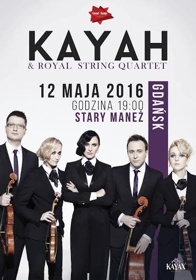 """""""Kayah & Royal String Quartet"""" – plakat (źródło: materiały prasowe organizatora)"""